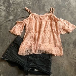 Fourteenth Place lace off the shoulder blouse